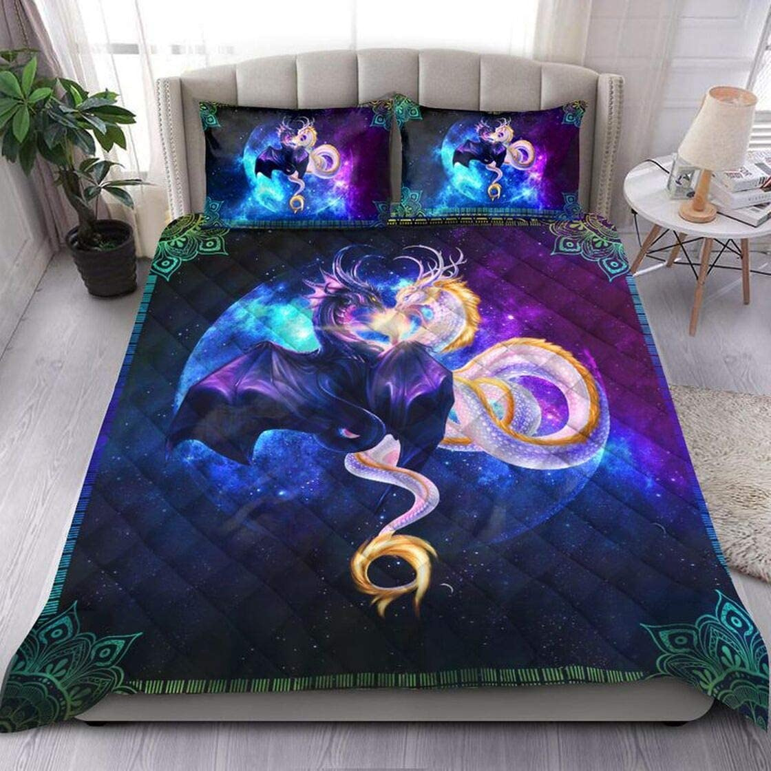 Personalized Galaxy Dragon Art Quilt New York Mall Birthday Dad Oklahoma City Mall Hu to Mom Gift