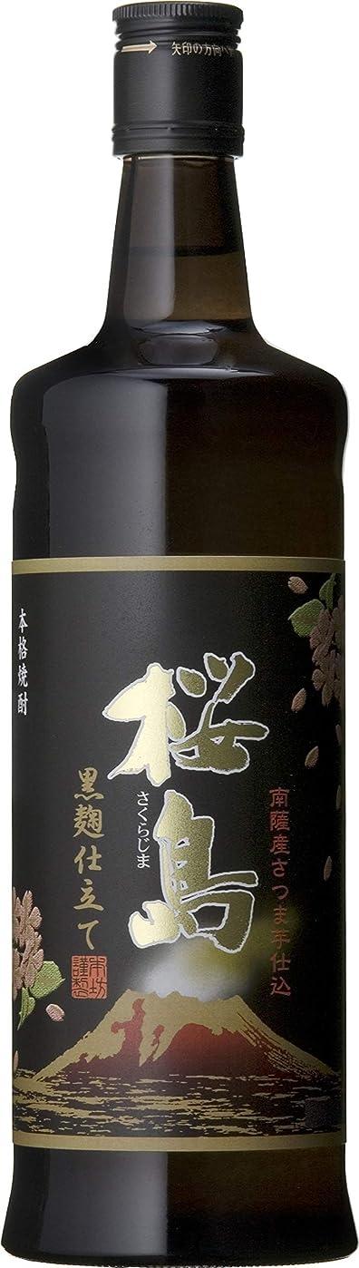 ゴム買う入学する黒麹仕立て桜島 ブラック 25度 720ml×12本