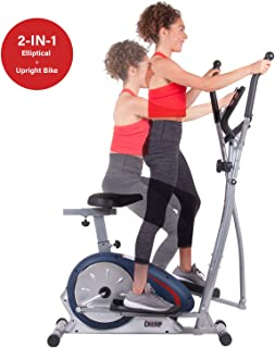 Body Champ BRM 2788 Cardio Dual Trainer, Black/Gray/Silver - coolthings.us