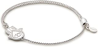 Alex and Ani Women's Pull Chain Bracelet Hand of Fatima, Sterling Silver