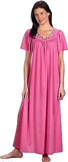 Shadowline Women's Plus-Size Petals 53 Inch Short Flutter Sleeve Long Gown