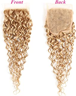 Best blonde curly closure Reviews