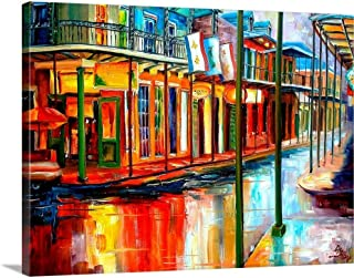 Downpour and Jackson Square Canvas Wall Art Print, 40