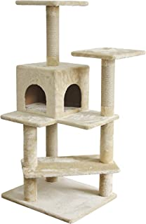 Amazon Basics Cat Tree with Double Sided Cube, Beige