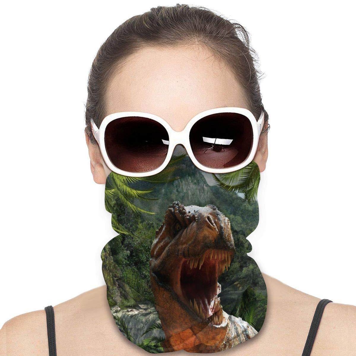 Park Dinosaur Jungle Face Mask Bandana Magic Scarf Neck Gaiter Dust Wind Masks
