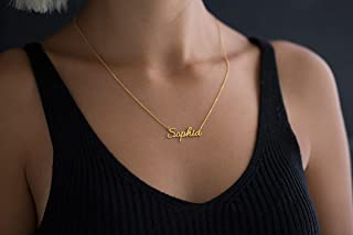 Gold Name Necklace - Necklace - Personalized Gifts - 14K Solid Gold Name Necklace - Gifts For Mom - Gift for Her - Mothers...