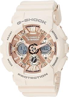 ساعة انالوج بعقارب ورقمية بسوار راتنج للنساء جي شوك من كاسيو GMA-S120MF-4ADR - روز