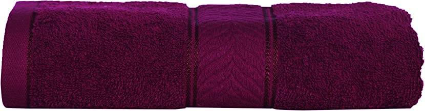 Divine Overseas Elegance Natural Ring-Spun Cotton Yarn, Soft, Absorbent, Durable, Extra Large Quick Dry Bath Towel (Medium , Wine)