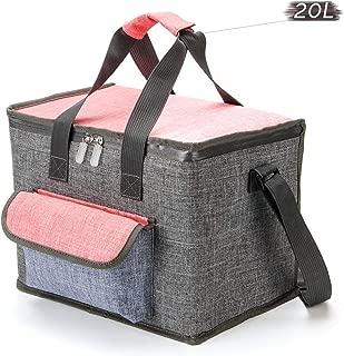 クーラーバッグ 大容量(20L)ランチバッグ 保冷 保温バッグ 折りたたみ、ソフトタイプ クーラーボックス ピクニック キャンプ 運動会 BBQ 買い物.
