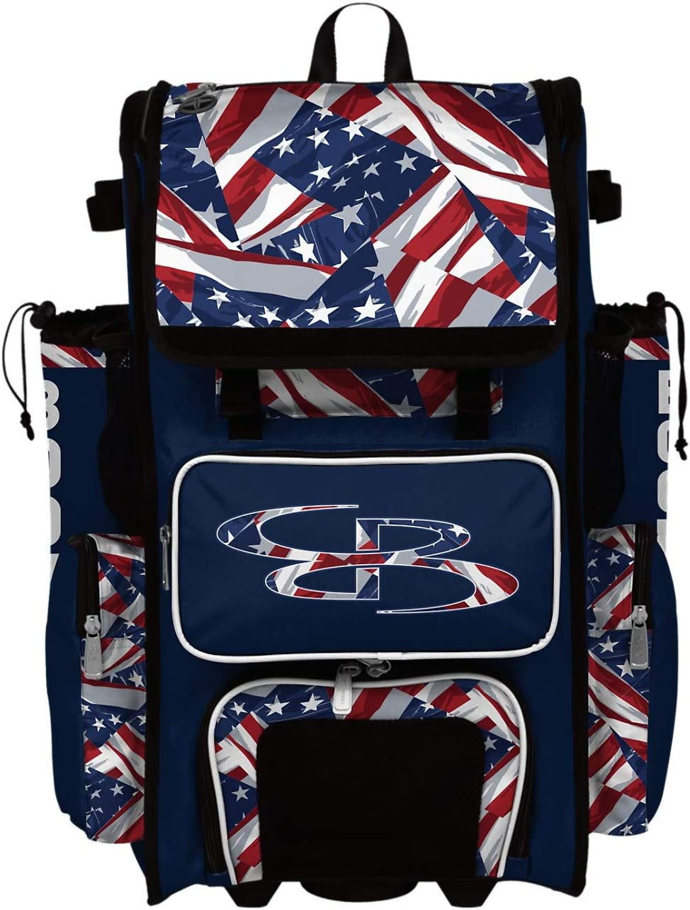 New York Mall Boombah Superpack Hybrid Rolling Bat USA Navy Max 85% OFF - Bag Independence