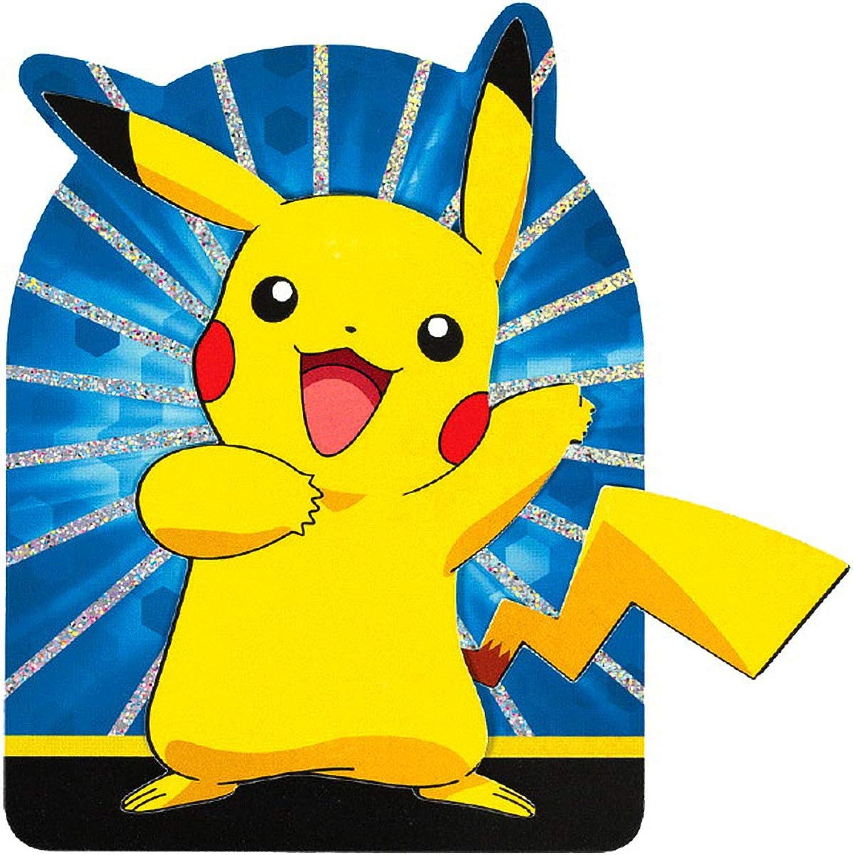 Amscan 494134 Giant Pokémon Pikachu & Friends Invitations Party Supply 32 ct, Multicolor