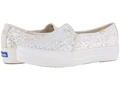 Keds x kate spade new york Bridal Triple Decker Glitter (Cream Glitter) Women
