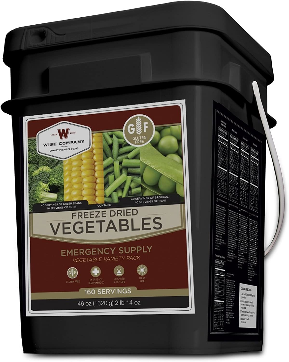 4006505 Wise Foods Freeze Dried Vegetable 160 Servings Gluten Free