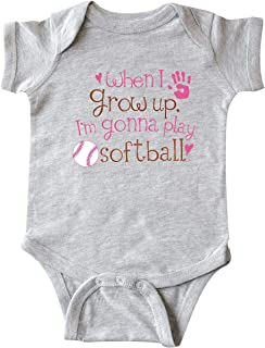 Future Softball Player Girls Infant Creeper
