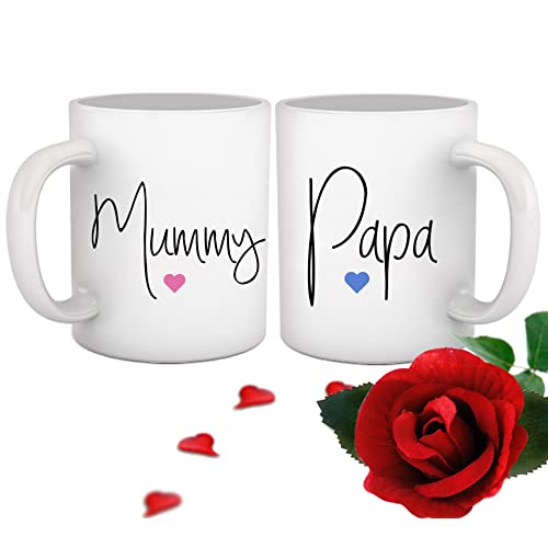Tied Ribbons Gift For Mom Dad Set Of 2 Coffee Mugs(325 Ml)