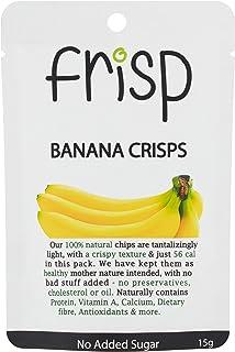 COCO EARTH FRISP Banana Crisps - Gluten Free, Oil-Free, No Sugar Added Real Banana Chips, x