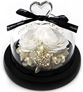 Forever Flowers Real Eternal Roses - Kylin Glory Preserved Flowers Gift with LED Mood Lights for Valentine's Day Birthday ...