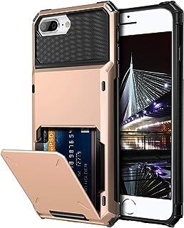 Vofolen Case for iPhone 8 Plus 7 Plus 6s Plus Wallet Card Holder 4-Slot Pocket Scratch Resistant Dual Layer Protective Bum...
