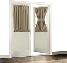 Aquazolax Blackout French Door Curtain Panels Window Treatments Drapes Thermal Insulated 54