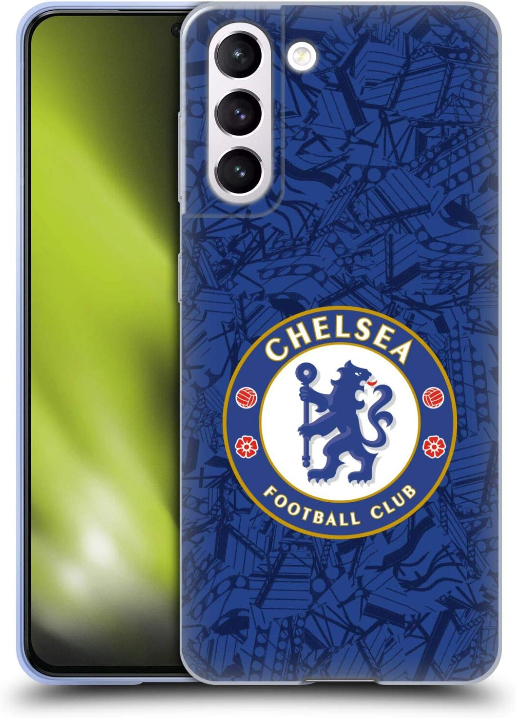 Head Case Designs Officially Licensed Chelsea Football Club Home 2019/20 Kit Soft Gel Case Compatible with Samsung Galaxy S21 5G