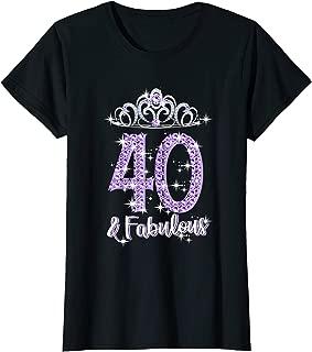 Womens Womens 40 And Fabulous 1979 T Shirt 40th Birthday Gifts T-Shirt