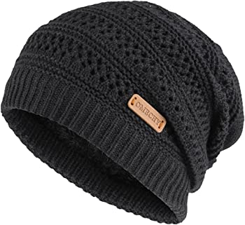 Omechy Unisex Slouchy Beanie Skull Fleece Ski Cap