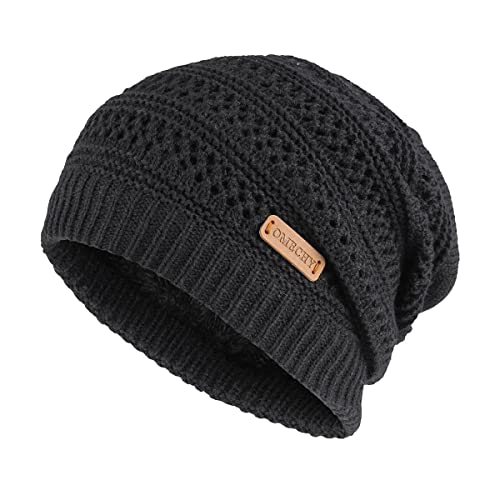 696de841c5b OMECHY Unisex Slouchy Beanie Hats Winter Warm Knit Skull Fleece Ski Cap 4  Color