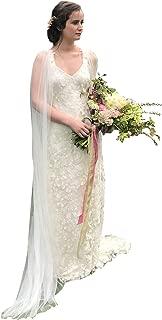Women's Ivory Cloak Wedding Bridal Jackets White Cape Custom Lace Tulle Elegant