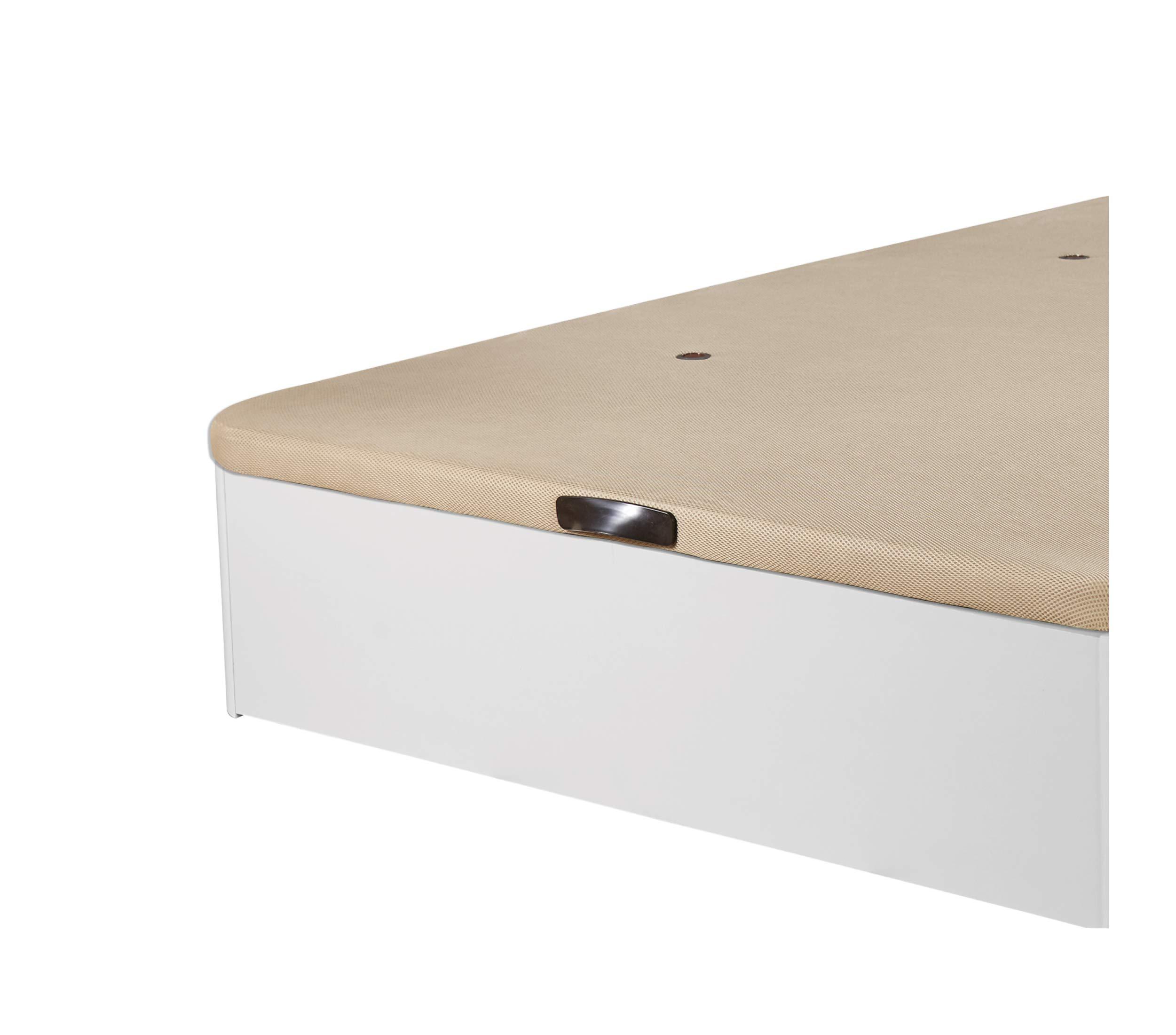 90x180 Blanco, 22mm DHOME Canape Abatible Tapizado 3D 4 v/álvulas Maxima Calidad Esquinas canap/é Madera