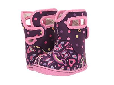 Bogs Kids Baby Bogs Rainbows (Toddler) (Purple Multi) Girls Shoes