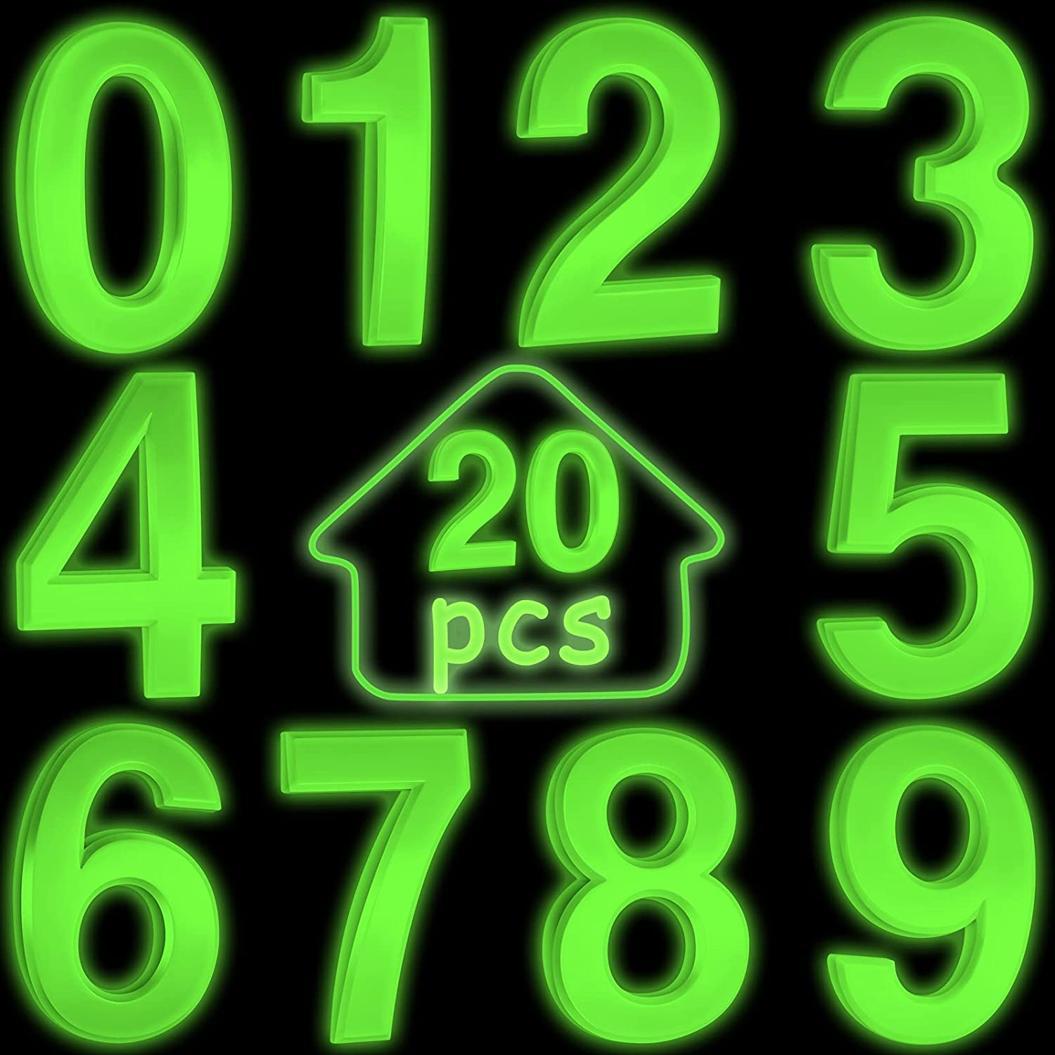 20 Pieces Self-adhesive High material Door Numbers Stree House Mailbox service