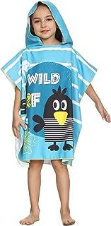 LOKTARC Kids Hooded Poncho Towel Beach Bath Towel Cartoon Swimming Robe 25.6