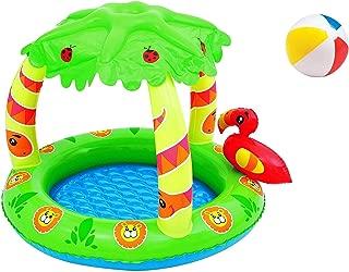 Aufstellpool aufblasbarer Baby Kinder Pool Planschbecken Kinderpool Kinderplanschbecken Schwimmbecken Aufblaspool f/ür Kind Kinder Rund Terrasse Balkon Garten Gr/ö/ße ca 229x56 cm