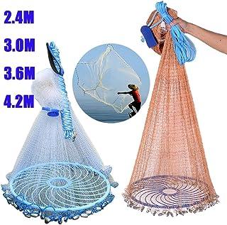Zaoyun Wurfnetz Angelnetz Nylon Gaze Netz mit 2.4-4.2m / Handschlaufe