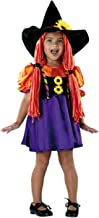 Plum Nellie's Treasures Witch Hat - Girl's Halloween Witch's Hat with Orange Yarn Hair Attached & Sunflower