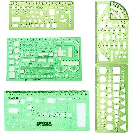 BASSK Modello di architettura professionale righello disegno strumento di misurazione stencil Student