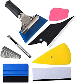 KeyHome 8 in 1 Auto Vinyl Wrap Tool Kit for Vehicle Film with Felt Squeegee, Scrapers, Film Cutter, Utility Knife and Blades
