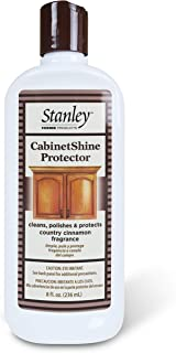 Stanley Home Products Cabinet Shine Protector - Wood Polisher & Dust Cleaner For Wooden Furniture & Floor - Dust Mite Cream & Hardwood Conditioner For Home & Office Patio