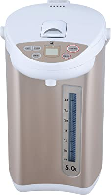 Electric Hot Water Boiler and Warmer, Hot Water Dispenser, 304 Stainless Steel Interior (Glod/White, 5.0 Liters) BM-50ASD4