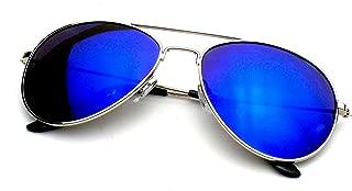 Emblem Eyewear - Premium Classic Metal Frame Reflective Mirror Lens Aviator Sunglasses