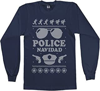 Men's Police Navidad (Ugly Sweater) Long Sleeve T-Shirt