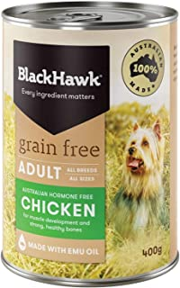 Black Hawk - Grain Free, Wet Dog Food, Chicken, Adult and Senior, 400g