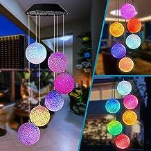 MMTX Campanas de viento energía Solar LED Wind Chimes con Cambio de color Mariposa lámpara para exterior jardín/Patio Iluminación Decoración Navidad cumpleaños Regalo para mujer niña