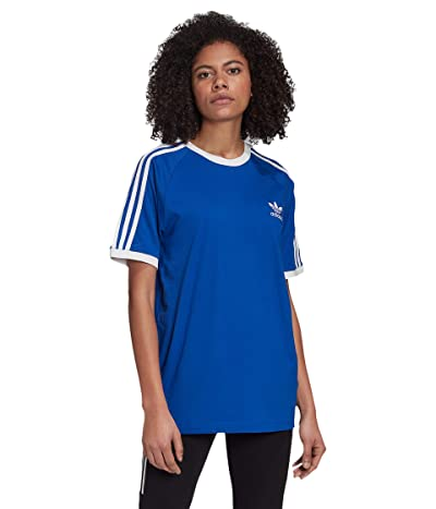 adidas Originals 3-Stripes Tee (Team Royal Blue/White) Women