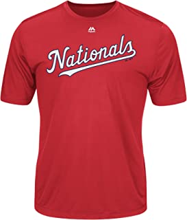 Washington Nationals Wicking MLB Officially Licensed Youth & Adult Authentic Replica Crewneck T-Shirt