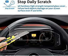 LFOTPP 2019 Tiguan Allspace Active Info Display 10.25-inch Instrument Panel Tempered Glass Screen Protector,Dash Panel Screen,Anti Scratch High Clarity