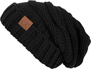 134d3f76fd7 FunkyJunque Trendy Warm Oversized Chunky Soft Oversized Cable Knit Slouchy  Beanie