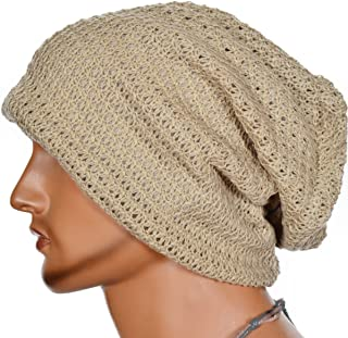 b20cd327575 FORBUSITE Mens Slouchy Long Oversized Beanie Knit Cap for Summer Winter B08