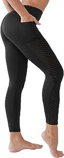 MEEYEE Women Stretch High Waist Yoga pants,Tummy Control Workout Yoga Leggings