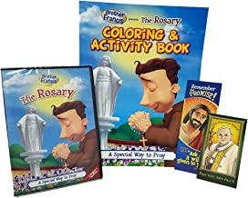 Brother Francis The Rosary DVD+Coloring Book+Pope Saint John Paul II+ Prayer Card+ Ask-Receive Bookmark-Catholic Prayers-Our Prayers-Our Father ... Churches-Apostles Creed